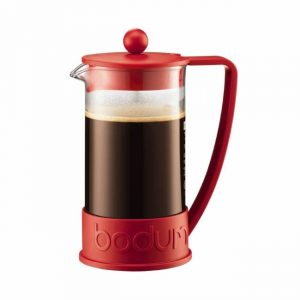Bodum Brazil French Press Coffee Maker 3cup Red